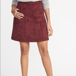 Old Navy A Line Suede Utility Skirt